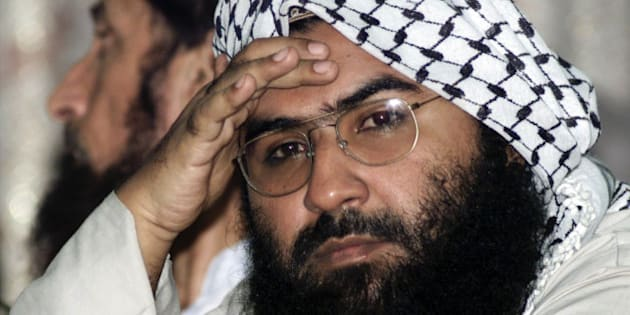 Maulana Masood Azhar, head of Pakistan's militant Jaish-e-Mohammad party, attends a pro-Taliban conference organised by the Afghan Defence Council in Islamabad August 26, 2001. Azhar, who was freed by India in exchange for the release of an Indian aircraft hijacked to Afghanistan in 1999, said that U.N. monitors should not be placed in Pakistan and that his followers would lay down their lives to force them out.  MK/JD