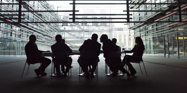 Business executives in meeting