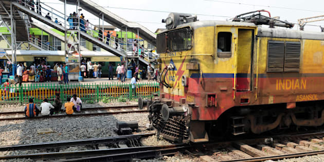 KOLKATA, INDIA  SEPTEMBER 29: Train arriving at Dundum rail station on September 29, 2015 in Kolkata, India. (Photo by Indranil Bhoumik/Mint via Getty Images)