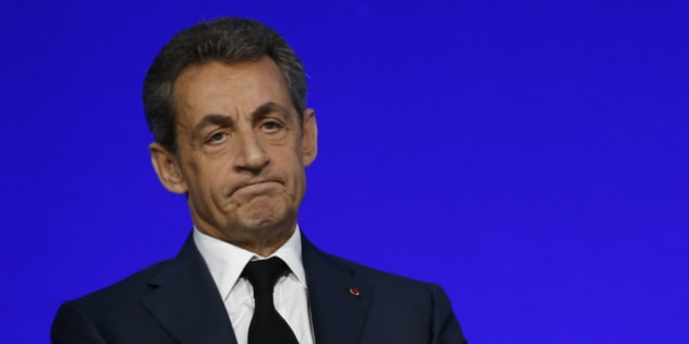 Nicolas Sarkozy, head of France's Les Republicains political party and former French President, speaks on the second day of his party's national council in Paris, France, in this photo taken February 14, 2016. Former conservative French President Nicolas Sarkozy was taken for questioning by investigating magistrates on Tuesday February 16, 2016 about a scandal over excess spending in his unsuccessful 2012 re-election campaign, witnessses said. Picture taken February 14, 2016.  REUTERS/Jacky Naegelen      TPX IMAGES OF THE DAY