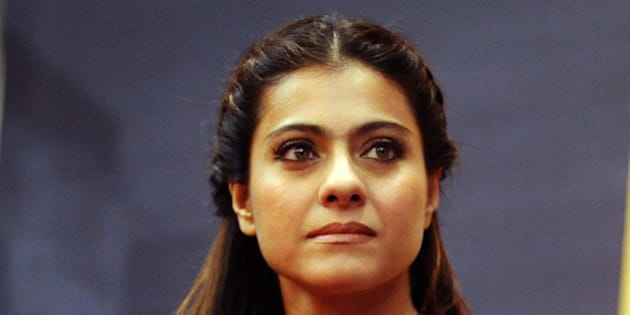 Indian Bollywood actress Kajol Devgn looks on during a promotional event in Mumbai on January 27, 2016. AFP PHOTO / STR / AFP / STRDEL        (Photo credit should read STRDEL/AFP/Getty Images)