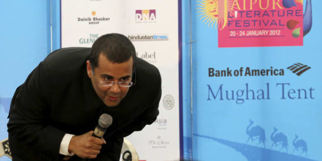 Indian writer Chetan Bhagat speaks at the annual Literature Festival in Jaipur, capital of India's desert state of Rajasthan, January 21, 2012. Bhagat on Saturday criticised the support leant to authors whose books are banned for offending religious communities, a day after Salman Rushdie cancelled his trip to Jaipur citing death threat warning.  REUTERS/Altaf Hussain (INDIA - Tags: EDUCATION ANNIVERSARY ENTERTAINMENT)