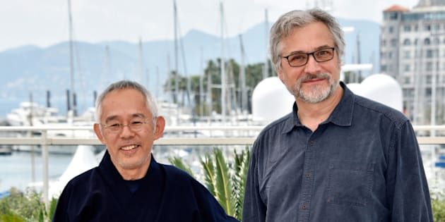 CANNES, FRANCE - MAY 18:  Producer Toshio Suzuki and director Michael Dudok de Wit attend the 'The Red Turtle' photocall during the 69th Annual Cannes Film Festival at the Palais des Festivals on May 18, 2016 in Cannes, France.  (Photo by Clemens Bilan/Getty Images)