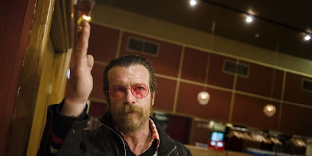 Singer of Eagles of Death Metal, Jesse Hughes, is pictured prior to their concert at Debaser Medis in Stockholm, Sweden, February 13, 2016. The concert in Stockholm is the band's first after the Bataclan terror attack in Paris in November.  REUTERS/Vilhelm Stokstad/TT News Agency     ATTENTION EDITORS - THIS IMAGE WAS PROVIDED BY A THIRD PARTY. FOR EDITORIAL USE ONLY. NOT FOR SALE FOR MARKETING OR ADVERTISING CAMPAIGNS. THIS PICTURE IS DISTRIBUTED EXACTLY AS RECEIVED BY REUTERS, AS A SERVICE TO CLIENTS. SWEDEN OUT. NO COMMERCIAL OR EDITORIAL SALES IN SWEDEN. NO COMMERCIAL SALES.