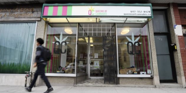 TORONTO, ON - APRIL, 28    The Queens of Cannabis has been open for 2 months in the Bloor and Ossington area and is one of the dozens of medical pot dispensaries that has caught Toronto off-guard.        (Richard Lautens/Toronto Star via Getty Images)