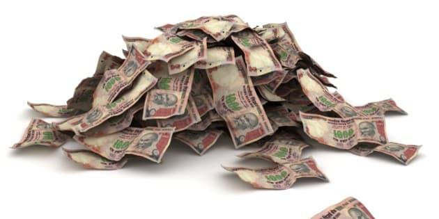 Indian Rupee Pile