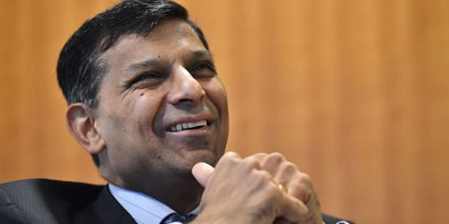 Reserve Bank of India (RBI) governor, Raghuram Rajan speaks during an event in central London on May 13, 2016.