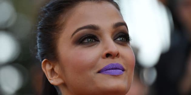 Indian actress Aishwarya Rai poses as she arrives on May 15, 2016 for the screening of the film 'Mal de Pierres (From the Land of the Moon)' at the 69th Cannes Film Festival in Cannes, southern France.  / AFP / ANNE-CHRISTINE POUJOULAT        (Photo credit should read ANNE-CHRISTINE POUJOULAT/AFP/Getty Images)