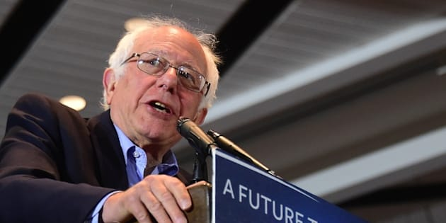 Democratic candidate Bernie Sanders speaks during a rally in Anaheim, California on May 24, 2016, ahead of the June 7 California vote. / AFP / FREDERIC J. BROWN        (Photo credit should read FREDERIC J. BROWN/AFP/Getty Images)