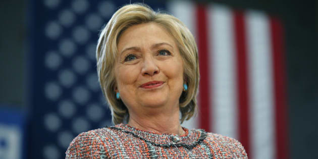 Democratic presidential candidate Hillary Clinton speaks at a rally at Hartnell College, Wednesday, May 25, 2016, in Salinas, Calif. (AP Photo/John Locher)