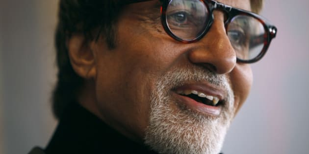 Indian actor Amitabh Bachchan reacts during the Asian Film Awards news conference in Hong Kong March 23,2010.   REUTERS/Tyrone Siu  (CHINA - Tags: ENTERTAINMENT HEADSHOT)