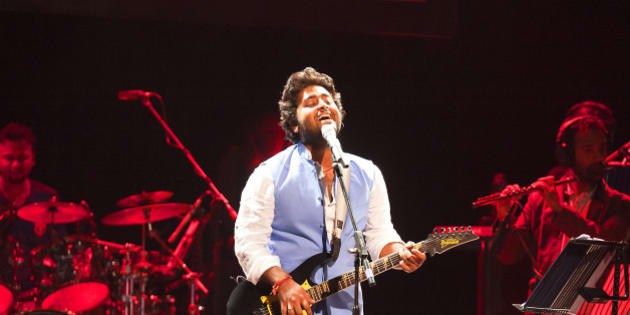 LONDON, UNITED KINGDOM - AUGUST 29: Arijit Singh performs on stage at Indigo2 at O2 Arena on August 29, 2014 in London, United Kingdom. (Photo by Robin Little/Redferns via Getty Images)