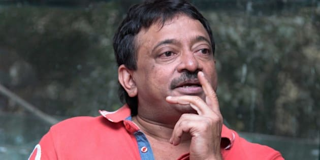 NEW DELHI, INDIA - NOVEMBER 6: Indian Bollywood filmmaker Ram Gopal Varma during an exclusive interview for the promotion of upcoming movie Satya 2 at HT Media Office on November 6, 2013 in New Delhi, India. Satya 2 is Bollywood crime film and directed by Ram Gopal Varma. The movie is expected to release on November 8, 2013. (Photo by Waseen Gashroo/Hindustan Times via Getty Images)