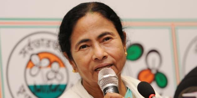 KOLKATA, INDIA - MAY 19: TMC Supremo Mamata Banerjee during a press conference at her resident on May 19, 2016 in Kolkata, India.