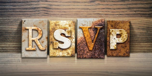 What does rsvp truly mean huffpost canada the word rsvp written in rusty metal letterpress type sitting on a wooden ledge filmwisefo