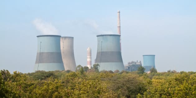 A Power Plant With Cooling Tanks From Gujarat, India