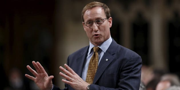 Canada's Justice Minister Peter MacKay speaks during Question Period in the House of Commons on Parliament Hill in Ottawa, Canada, June 16, 2015. REUTERS/Chris Wattie