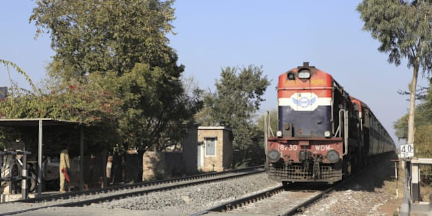 India. The railway from Udaipur to Pushkar.