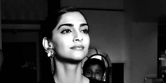 CANNES, FRANCE - MAY 15:  (EDITOR'S NOTE: This image has been converted to black and white)Sonam Kapoor arrives at Martinez Hotel during the 69th annual Cannes Film Festival on May 12, 2016 in Cannes, France.  (Photo by Gareth Cattermole/Getty Images for L'Oreal)