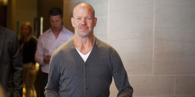 Lululemon Athletica Inc's founder Chip Wilson arrives for the company's annual general meeting in Vancouver June 11, 2014. Wilson, the company's biggest shareholder, lashed out at the yogawear retailer's board on Wednesday, saying he had voted against keeping the company's new chairman and another director in their jobs because they are too focused on short-term growth. REUTERS/Ben Nelms (CANADA - Tags: BUSINESS)