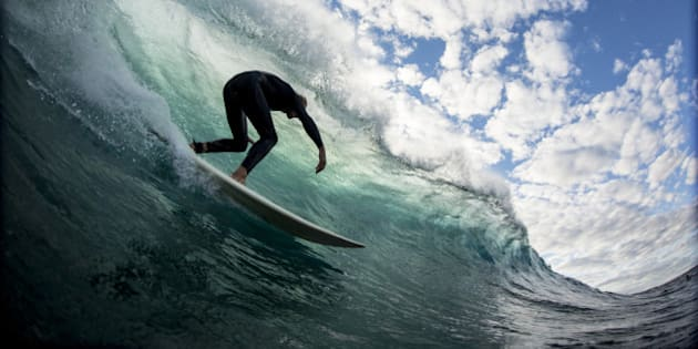 The moment before you pull in to a perfect barrel and get that vision that every one is chasing.