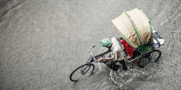 A rainy day in Amritsar.