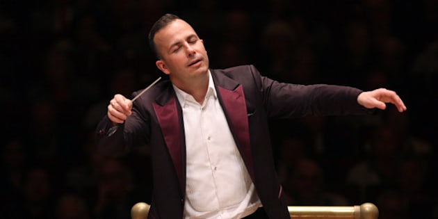 The Philadelphia Orchestra performing at Carnegie Hall on Thursday night, May 14, 2015.This image:Yannick Nezet-Seguin leading the Philadelphia Orchestra in Rachmaninoff's 'Symphony No. 3.'(Photo by Hiroyuki Ito/Getty Images)