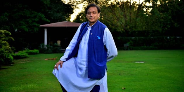 NEW DELHI, INDIA - APRIL 21: (Editor's Note: This is an exclusive shoot of Mint) Congress MP Shashi Tharoor during an exclusive interview, on April 21, 2015 in New Delhi, India. (Photo by Pradeep Gaur/Mint via Getty Images)