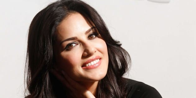 NEW DELHI, INDIA - JUNE 5: Bollywood actor Sunny Leone during an exclusive interview to promote Indian television reality show MTV Splitsvilla during Stars in the city series run by HTCity, on June 5, 2014 in New Delhi, India.. (Photo by Waseem Gashroo/Hindustan Times via Getty Images)