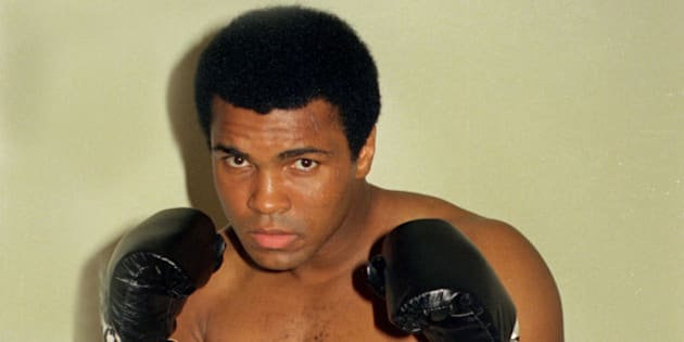 FILE - This is an Oct. 9, 1974, file photo showing Muhammad Ali.  Ali, the magnificent heavyweight champion whose fast fists and irrepressible personality transcended sports and captivated the world, has died according to a statement released by his family Friday, June 3, 2016. He was 74. (AP Photo/Ross D. Franklin, File)(AP Photo/FIle)