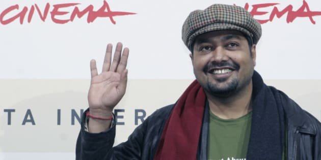 "Indian film director Anurag Kashyap poses during a photo call on occasion of the screening of the movie  ""No smoking"" at the Rome Film festival, Wednesday, Oct. 24, 2007. (AP Photo/Sandro Pace)"