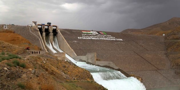 HERAT, AFGHANISTAN - JUNE 04: A general view of the Salma Dam which was opened by the President of Afghanistan Ashraf Ghani and Indian Prime Minister Narendra Modi in Herat, Afghanistan on June 04, 2016. (Photo by Mir Ahmad Firooz/Anadolu Agency/Getty Images)