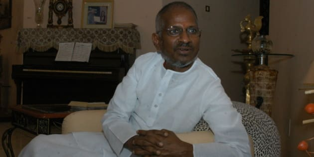 INDIA - SEPTEMBER 14:  Ilayaraja, Music Director at his Residence in Chennai, Tamil Nadu, India (Illayaraja - Music Director)  (Photo by Hk Rajashekar/The India Today Group/Getty Images)