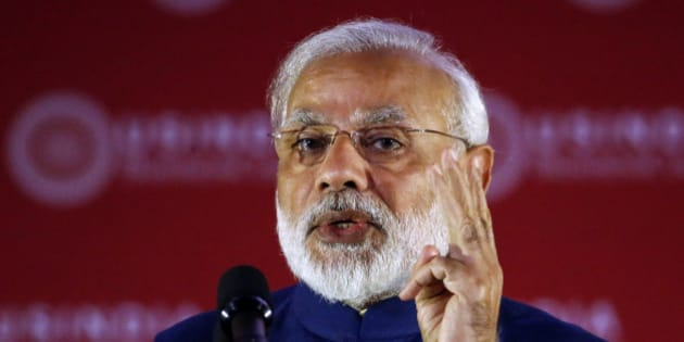 Indian Prime Minister Narendra Modi speaks during the U.S.-India Business Council 41st Annual Leadership Summit, Tuesday, June 7, 2016 in Washington. (AP Photo/Alex Brandon)