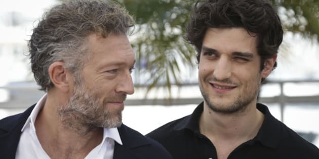 Vincent Cassel and Louis Garrel pose for photographers at the photo call for the film Mon Roi, at the 68th international film festival, Cannes, southern France, Sunday, May 17, 2015. (Photo by Joel Ryan/Invision/AP)