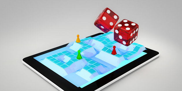 Board game on tablet screen