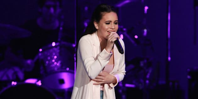 Bea Miller performs as the opener for Selena Gomez at Philips Arena on Thursday, June 9, 2016, in Atlanta. (Photo by Robb D. Cohen/Invision/AP)