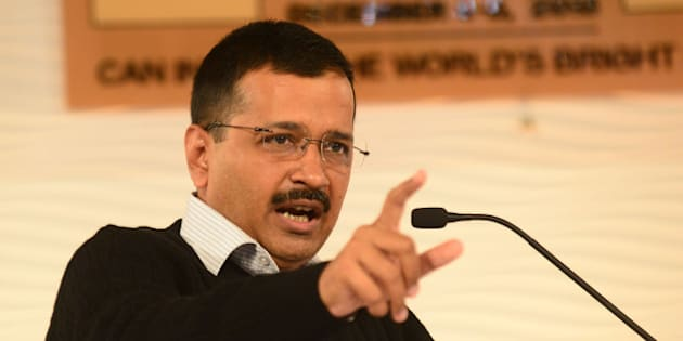 NEW DELHI, INDIA  DECEMBER 5: Chief Minister of Delhi, Arvind Kejriwal addressing at HT LEADERSHIP Summit 2015 on December 5, 2015 in New Delhi, India. (Photo by Ramesh Pathania/Mint via Getty Images)