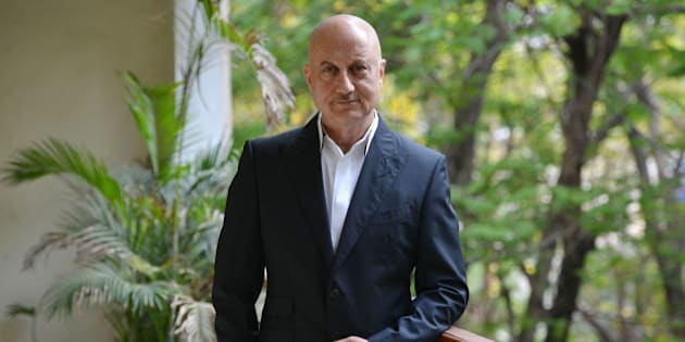 MUMBAI, INDIA MARCH 03: Indian Bollywood actor Anupam Kher poses for the photo shoot in Mumbai.(Photo by Milind Shelte/India Today Group/Getty Images)