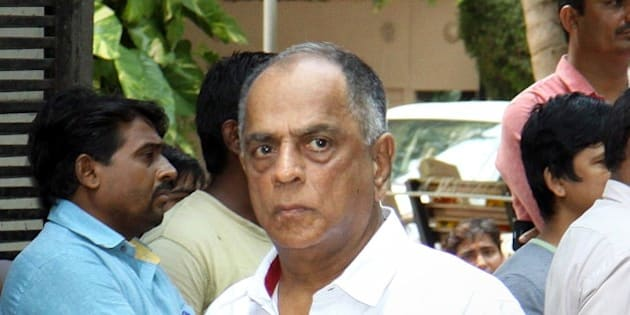 Indian Bollywood film producer and present Chairperson of the Central Board, Pahlaj Nihalani attends the funeral of the late Bollywood music composer and singer Aadesh Shrivastava in Mumbai on September 5, 2015.   AFP PHOTO        (Photo credit should read STR/AFP/Getty Images)