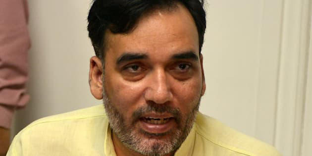 NEW DELHI, INDIA JUNE 13: Transport Minister Gopal Rai addressing a Press Conference at Delhi Vidhan Sabha in New Delhi.(Photo by K Asif/India Today Group/Getty Images)