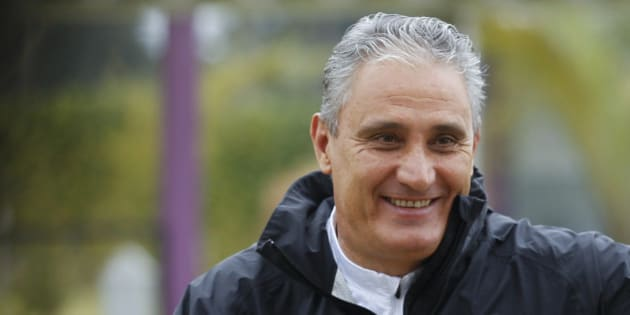 SAO PAULO, BRAZIL  JUNE 24:  Coach Tite smiles during a Corinthians training session at Dr. Joaquim Grava TC on June 24, 2013 in Sao Paulo, Brazil. (Photo by Paulo Fischer/Brazil Photo Press/LatinContent/Getty  Images)