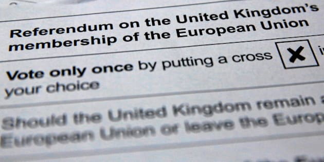 Illustration picture of postal ballot papers June 1, 2016 ahead of the June 23 BREXIT referendum when voters will decide whether Britain will remain in the European Union.   REUTERS/Russell Boyce/Illustration/File Photo