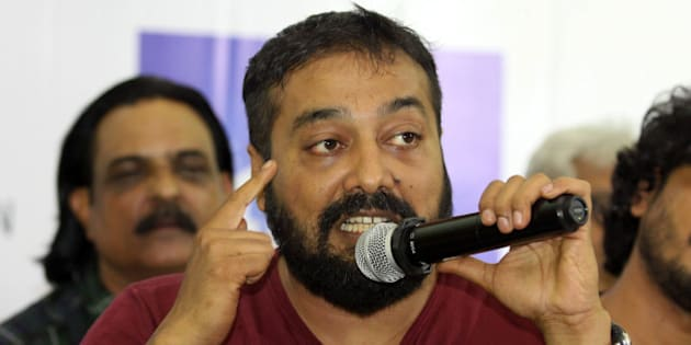 Indian Bollywood film director Anurag Kashyap addresses media representatives during a press conference organised by IFTDA (Indian Film and Television Directors Association) on the Hindi film Udta Punjab in Mumbai on June 8, 2016.