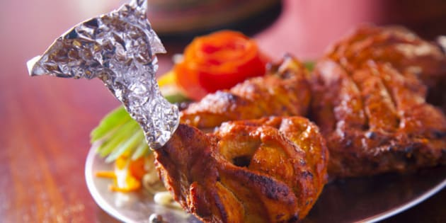 India, Spicy grilled chicken legs, close-up