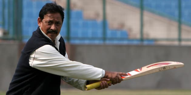 INDIA - FEBRUARY 06:  Delhi cricket Team coach Chetan Chauhan during a practice session for upcoming the North Zone One Day Championship 2007 at Ferozshah Kotla ground, New Delhi  (Photo by Qamar Sibtain/The India Today Group/Getty Images)
