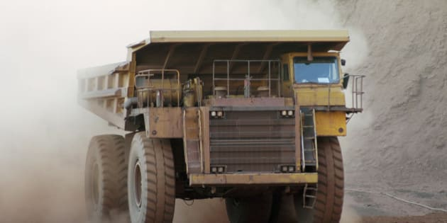 Big truck working in the mine