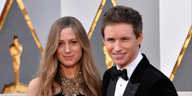 (L-R) Hannah Bagshawe and Eddie Redmayne attend the 88th Academy Awards in Los Angeles, CA, USA, February 28, 2016.