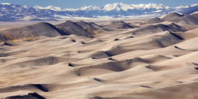 Colorado, Great Sand Dunes National Park and the visual effects of global warming and climate change.
