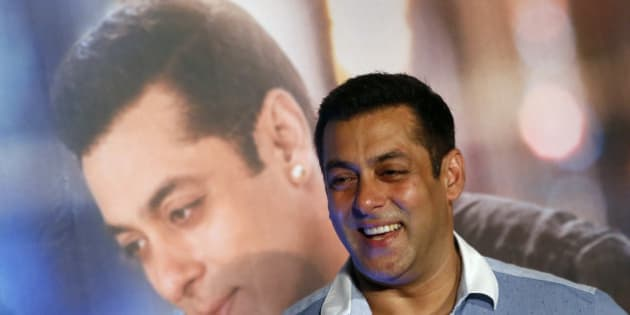 Bollywood actor Salman Khan attends the trailer launch of his upcoming film 'Prem Ratan Dhan Payo' in Mumbai, India, Thursday, Oct. 1, 2015. The film is scheduled for release on Nov. 12. (AP Photo/Rajanish Kakade)